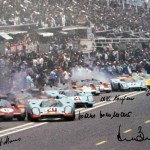 24 hours Le Mans 1970 poster – Signed by 1 to 7 Porsche drivers. Only a couple of each!