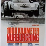 Porsche 910 Nurburgring 1000 kms 1967 Victory poster – Hand signed by Vic Elford