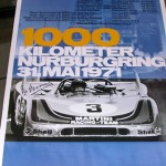 Nurburgring 1000 kms, 1971 Porsche 908/3 Victory poster – Hand signed by Vic Elford