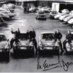 The 4 works Porsche 911 and their drivers – 8″x10″ – Signed by Elford, Stone & Larrousse