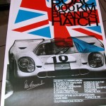 Brands Hatch 1000 kms 1970 Porsche 917 Victory poster – Hand signed y Vic Elford