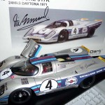 "AutoArt 1:18 ""Millennium"" Diecast Model Martini Porsche 917K Daytona 24 Hours 1971. Signed by Vic."
