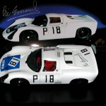 Exoto 1:18 Diecast Model PORSCHE 910  Nurburgring 1000 km 1967 Elford / Neerpasch. Signed by Vic Elford.