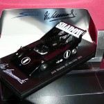 AVS Shadow raced by Vic Elford  in Can-Am at Mid-Ohio in 1970 – Spark 1:43 Diecast Model  – Autographed – LAST ONE !