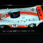 Gulf Mirage GR8 – Le Mans 1975 winner  Ickx / Bell Spark 1:43 Diecast Model – Signed by Derek Bell – Last one!