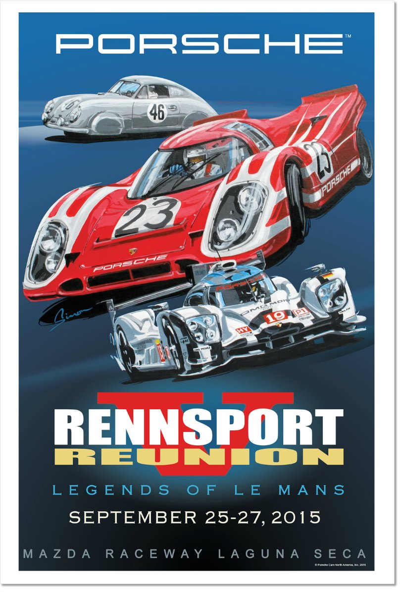German Porsche Racing Rensport Reunion 4 Prints Posters